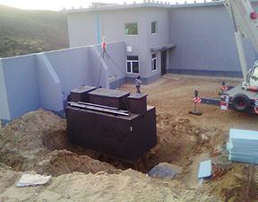 Buried sewage treatment